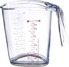 Leifheit L03048 ComfortLine Measuring Jug, 1.0 L, Red/Transparent