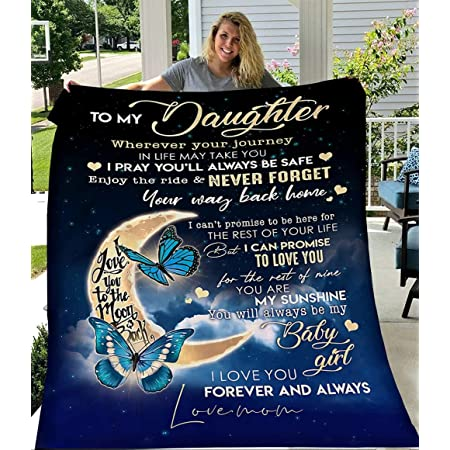 Details about  /to My Daughter 3D Custom Fleece Photo Blanket Fan Gift for Daughter Children