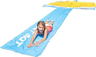 Sportspower Waterpark FUNtain Jet Mat with 10' X 10' Automated Sprinkler Pad & 25' Super Long Slide
