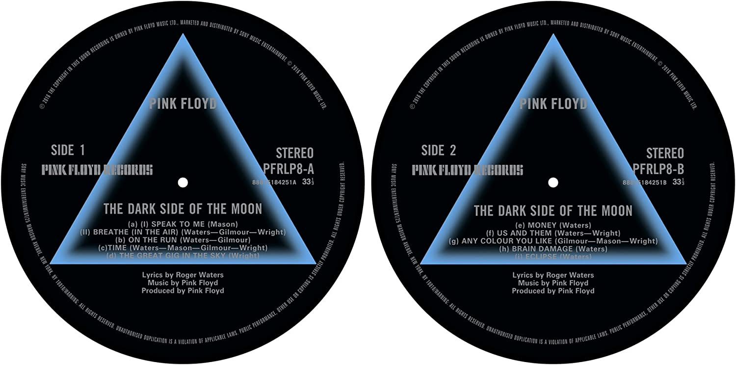 Pink Floyd 'Dark Side Overseas parallel import regular item Of Limited time for free shipping Slipmat Moon' Turntable The Set