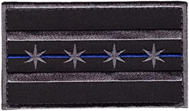 Hook Blue Line Chicago Subdued Gray Flag Tactical Morale Gear Police Patch CH03