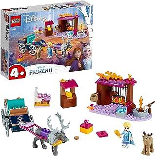 LEGO 41166 Disney Frozen II Elsa's Wagon Adventure with Princess Elsa Mini Doll and 2 Reindeer Figures, Easy Build Prescho...