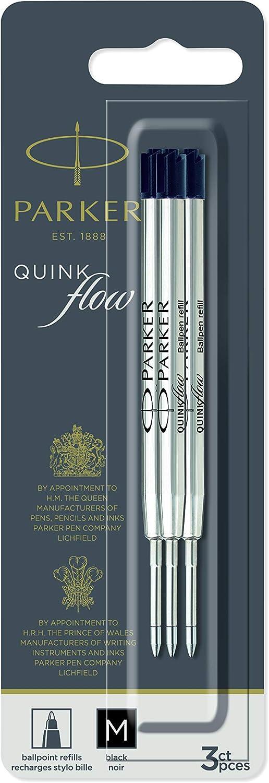 PARKER QUINKflow Ballpoint Pen Ink 3 Black Tip Refills Max 65% OFF Free shipping Medium