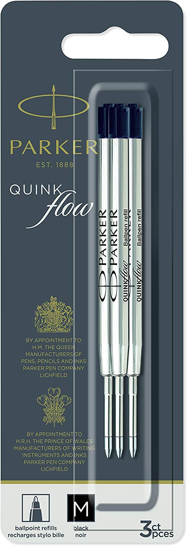 PARKER QUINKflow Ballpoint Pen Ranking TOP9 Ink 3 Refills Tip Black Year-end gift Medium