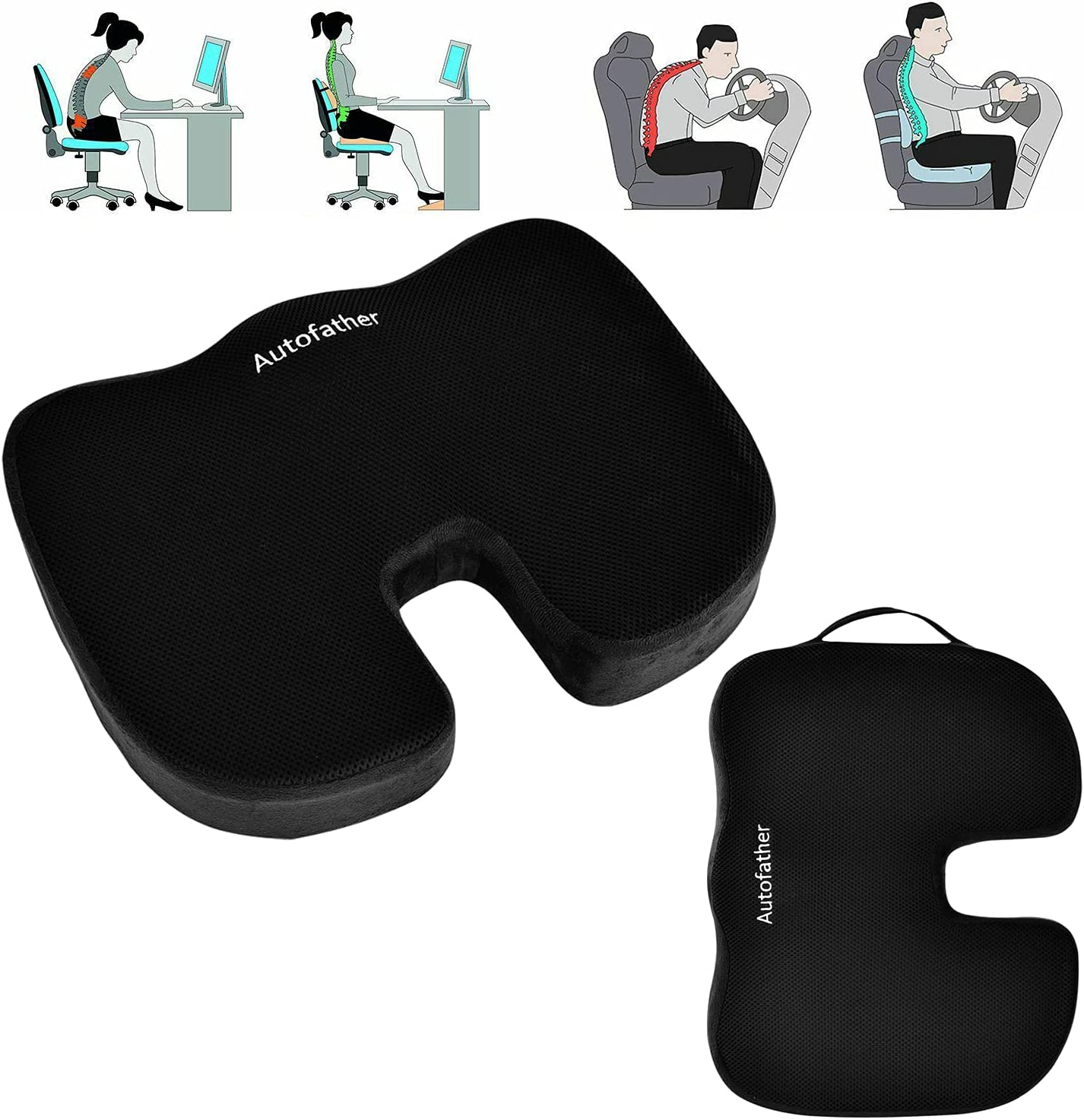 Autofather Seat Cushions 25% OFF – Memory Ranking TOP10 Foam Pad S Pillow for Tailbone