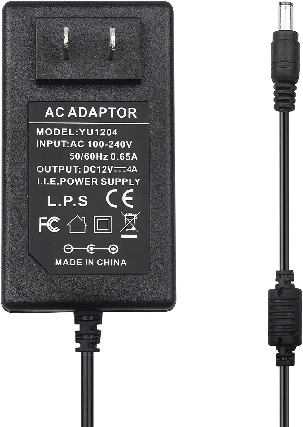LeTaoXing 12V 4A Power Supply Adapter, AC 100-240V to DC 12V 48W Switching Power Supply Transformers 12V/4A for 12V 3528/5050 LED Strip Lights, LCD Monitor, 48W Max,Replacement 12V 3.5A