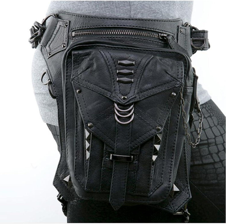 JACKDAINE Women's Fashion Steampunk Rock Shoulder Messenger Bag Pockets