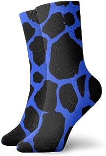 Seamless Leopard Print Pattern Texture Mens Athletic Crew Socks Basketball Cushioned Sport Long Compression Socks