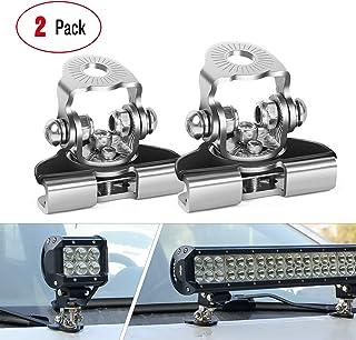 LED Light Bar Mounting Bracket, Nilight 2PCS Universal Adjustable Pillar Hood Led Work Light Mount Bracket Clamp Holder fo...