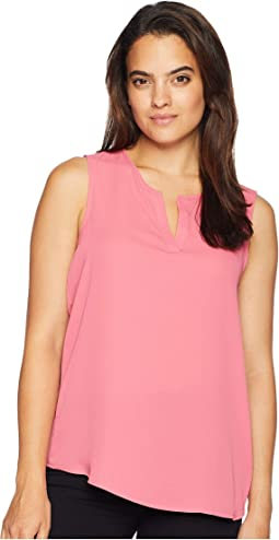 Sleeveless V-Neckline Top with Side Button Detail