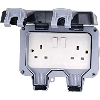 Hamilton Elemento IP66 2 Gang 13 A Switched Outdoor Socket