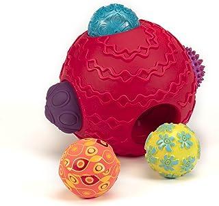 B.Toys 比乐 儿童早教玩具球 感统波丽触觉感统球 婴幼儿手抓球 碰碰球 感官训练 可啃咬  婴幼儿童益智玩具 礼物 6个月+ BX1153Z