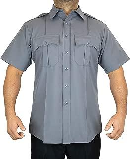 First Class 100% Polyester Short-Sleeve Men's Uniform Shirt Light Gray