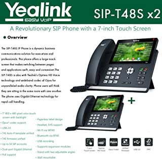 Yealink IP Phone SIP-T48S 2-Pack 16 SIP accounts HD Voice PoE Support