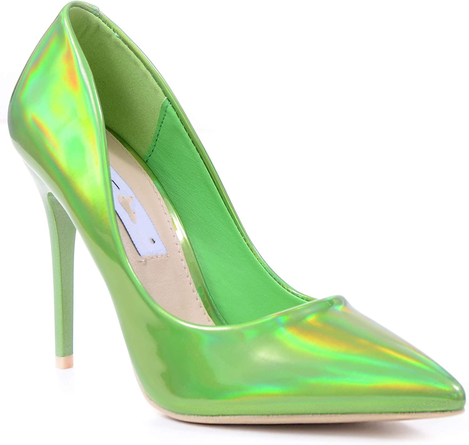 Metallic GREEN Iridescent Classic Pointy Toe High Heel Stiletto Pumps Womens shoes