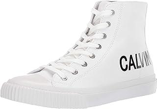 Calvin Klein Lacopo, Men's Fashion Sneakers, Bright white, 45 EU