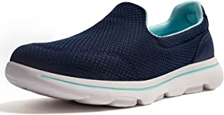 Women's Slip On Walking Shoes - Lightweight Breathable...