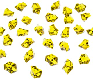 Super Z Outlet Acrylic Color Ice Rock Crystals Treasure Gems for Table Scatters, Vase Fillers, Event, Wedding, Arts & Crafts, Birthday Decoration Favor (190 Pieces) (Yellow)