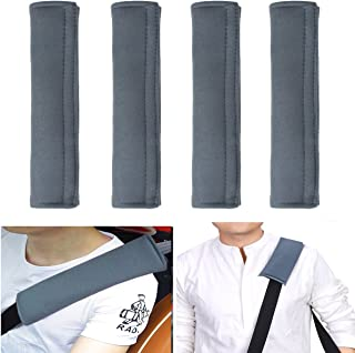 Cadaleem Universal Auto Seatbelt Covers and Seat Belt Adjuster 4 Pack Car Seatbelt Adjustable Shoulder Strap Harness Pads and Clips for Kids /& Adults Comfortable Driving