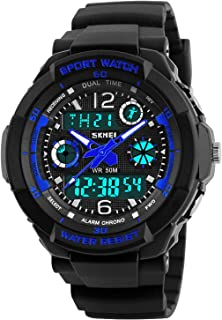 Kids Watches for Boys Girls Digital Outdoor Sport Waterproof Electrical EL-Lights Watches with Alarm Luminous Stopwatch Casual Military Child Wrist Watch Gift