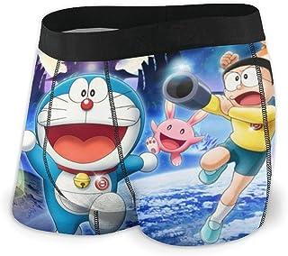 Lsjuee Slip Boxer Traspiranti Doraemon da Uomo con Biancheria Intima Ultra Morbida