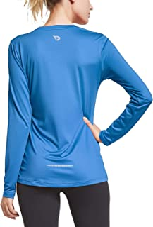 Women's V Neck T-Shirt Long Sleeve Running Athletic Shirts