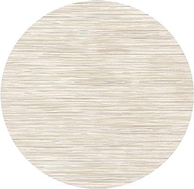 Modern Round Area Rugs 80cm 100cm 120cm 140cm 160cm 180cm 200cm Beige Large Carpet for Living Room Bedroom Bedside Rugs Coffee Table Mats (Size : Diameter 5.2ft/160cm)