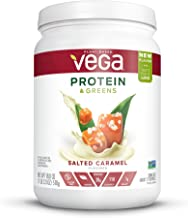 Vega Protein & Greens Salted Caramel (17 servings, 18 Ounce) - Plant Based Protein Powder, Keto-Friendly, Gluten Free,  Non Dairy, Vegan, Non Soy, Non GMO - (Packaging may vary)