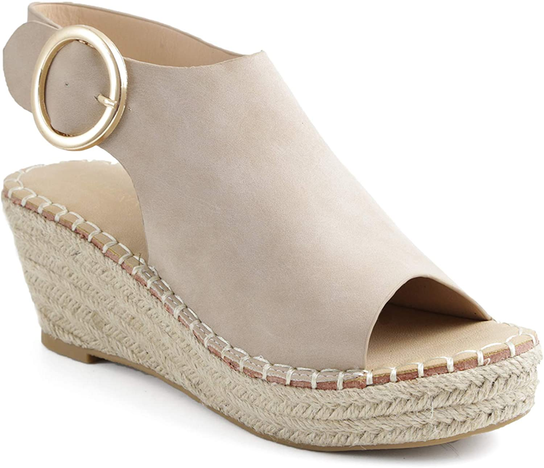 Catherine Malandrino Womens Cirkly Espadrille Wedge Sandal