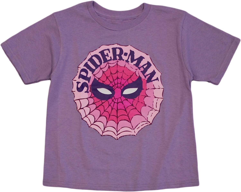 Marvel Little Girls' Spiderman Face Tee