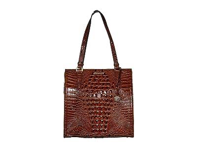 Brahmin Melbourne Large Caroline Satchel (Pecan) Bags