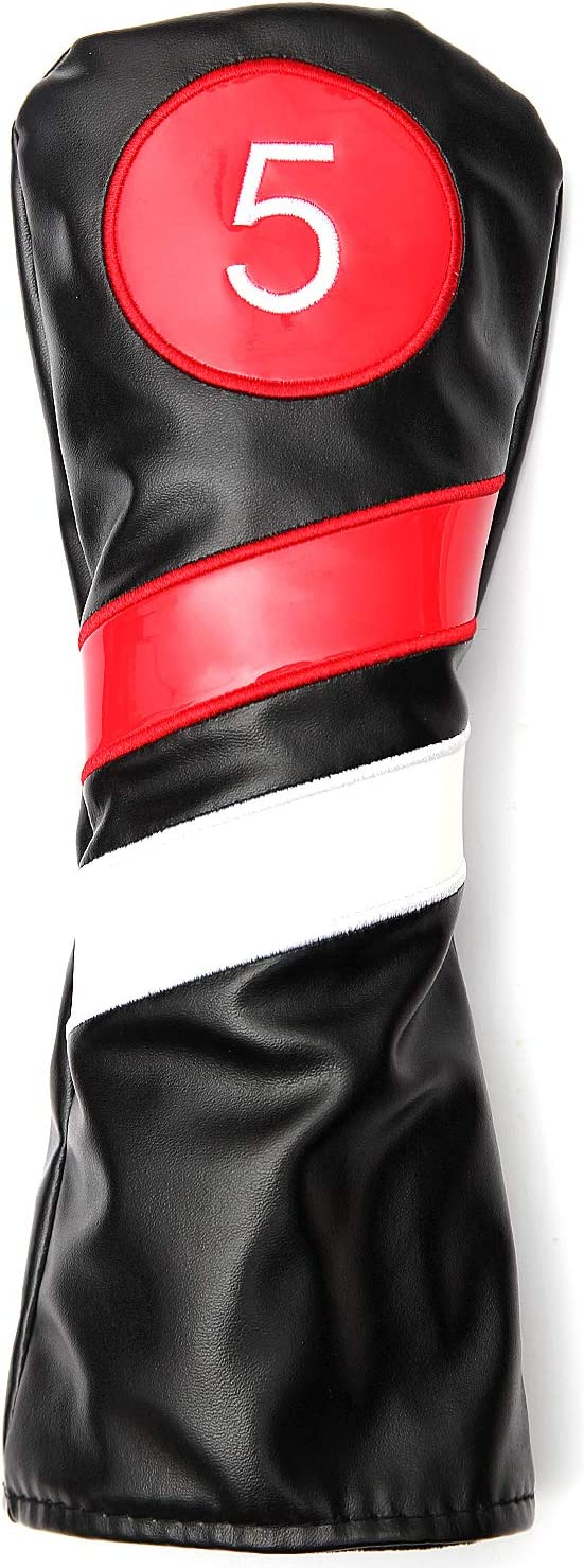 SHABIER Golf Head Covers 3pcs Wood Max 66% mart OFF Headcovers Set Driver Fairway