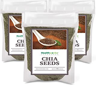 Healthworks Chia Seeds Raw (6lb / 96oz) (3 x 2lb Bags) | Pesticide-Free, Premium & All-Natural | Contains Omega 3, Fiber & Protein | Great with Shakes, Smoothies & Oatmeal