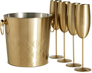 Best gold champagne bucket Reviews