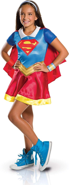 Generique Classic Supergirl Costume for Girls 57 years