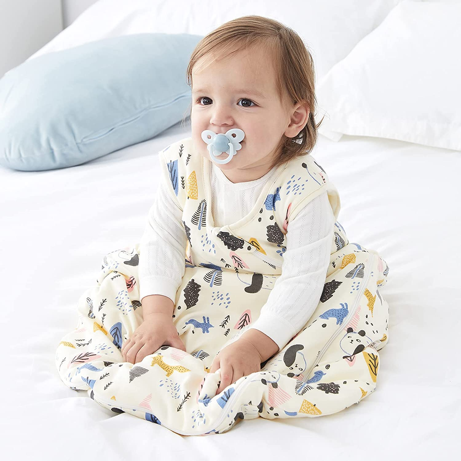 Super special price DuoMiaoMiao Baby Sleeping Bag 2.5 Complete Free Shipping Tog Cotton 100% Wearable
