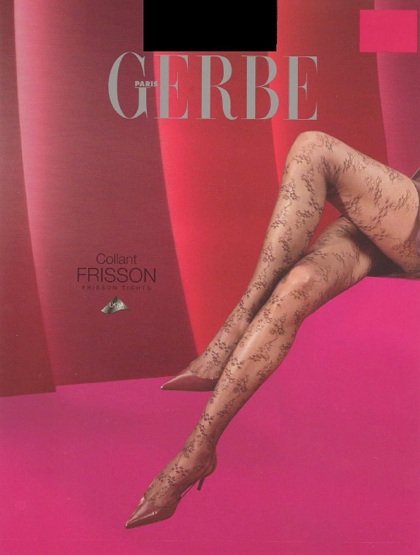 Gerbe Paris Prisson Black Floral Patterns Tights/Pantyhose Size M