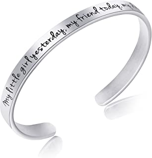 Awegift Daughters Jewelry from Mom & Dad Birthday Gift Stainless Steel Jewelry