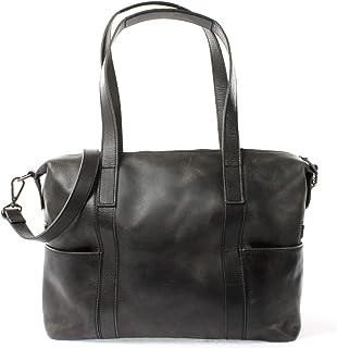 LECONI Shopper Vintage-Look Damen Henkeltasche Schultertasche Echt-Leder Natur Damentasche Ledertasche Umhängetasche Handtasche Leder 37x28x15cm LE0061