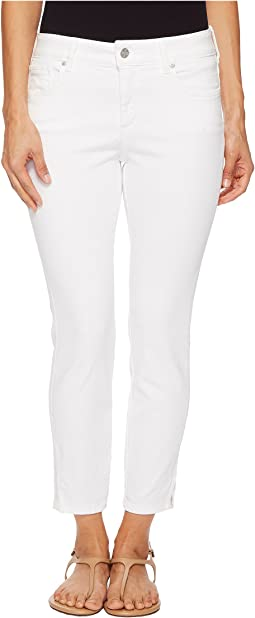Petite Ami Skinny Ankle w/ Slit Clean in Optic White