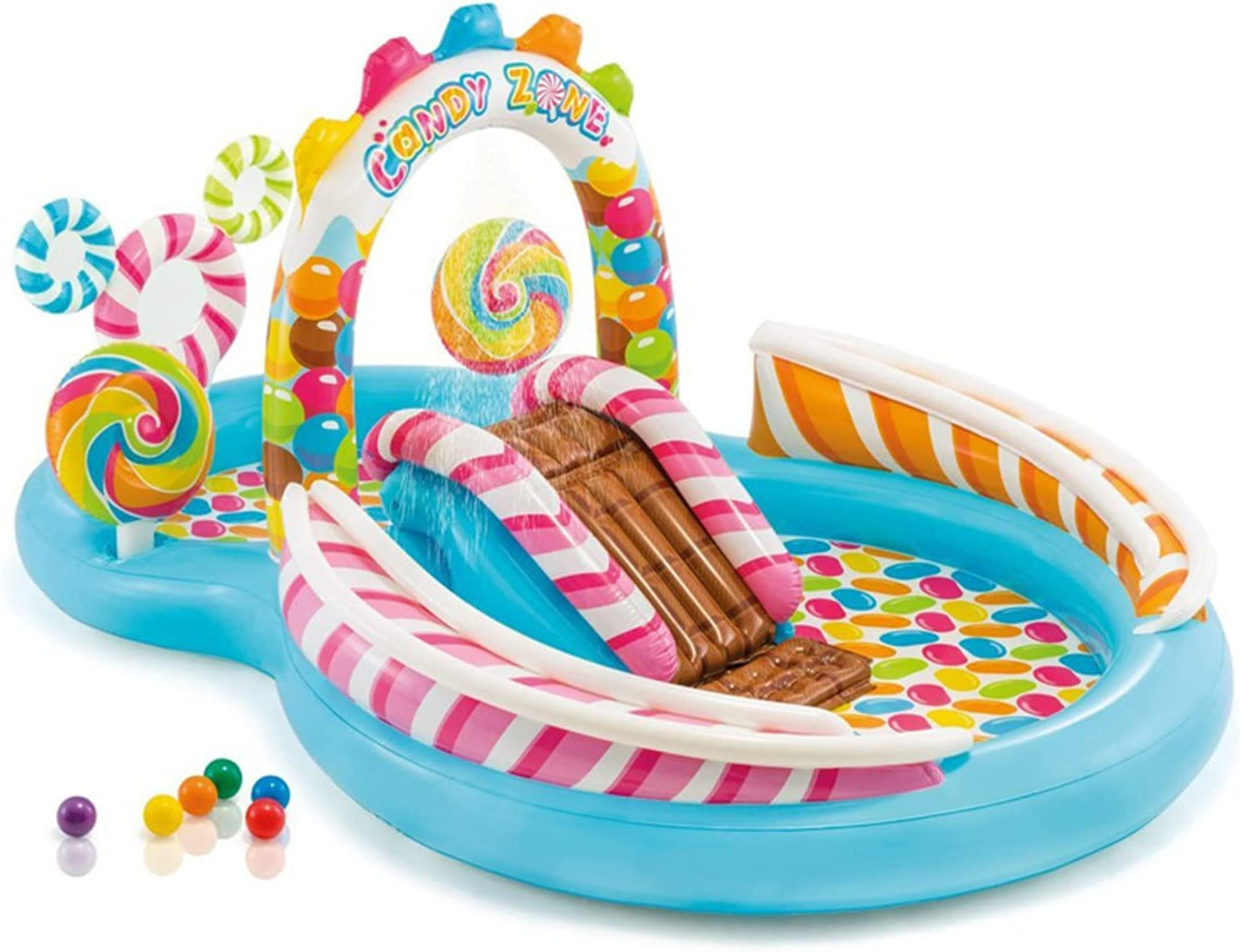 Candy Slide Inflatable Pool Max 79% OFF 116