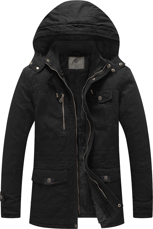 WenVen Men's Winter Thicken Cotton It is very popular Parka with Coat Ranking TOP9 R Jacket Warm