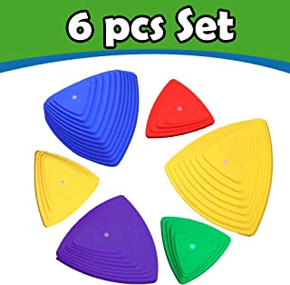 Stepping Stones for Kids Balance with Non-Slip Bottom - Exercise Coordination and Stability 6pcs