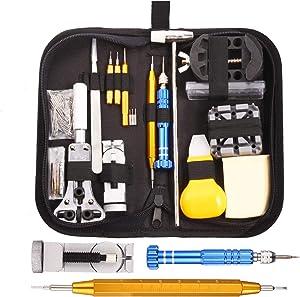GUSODOR Montres Kit Professional Multi-Tool Trousse D'outils de Montre Tool Kits et Outils de Réparation à Outils Parfait pour Débutants Professionnels Horlogers Collecteurs
