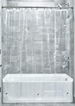 InterDesign Mildew-Free EVA 5.5-Gauge Shower Liner, 72 x 72-Inch, Clear