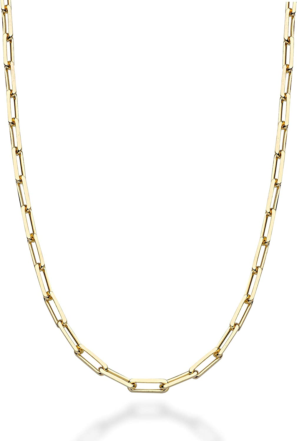 MiaBella Solid 18K Gold Over Italian Ranking TOP8 Industry No. 1 3mm Silver Papercl Sterling