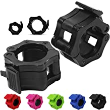 "Quick-Release Safety Collars for Olympic Barbells, 2"" Plates by D1F, Set of 2 - Weight Locking Clips for Weightlifting Bar..."