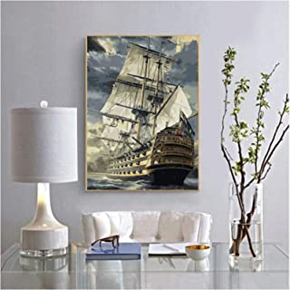 DIY Oil Painting Kits on Canvas Art Paint By Numbers for Adults Children Color Fill Painting Without Frames,Easy To Make,C...
