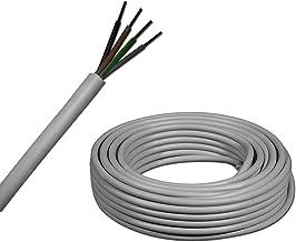 jusqu/à 250 m par tranches de 5 m/ètres EBROM C/âble LED rond en plastique H03VV-F 4 x 0,75 mm/² couleur : noir 4G0,75 10//15//20//25//30//35//40//45//50//55//60/m etc