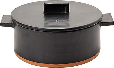 Rikizo 土鍋 ドゥマン 2-3人用 ブラック 直径27×奥行22×高さ12.5cm 1.75l 日本製 R-883211